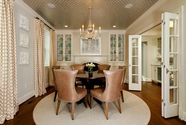 folding camp chairs Dining Room Traditional with accent ceiling artwork baseboards ceiling treatments chandelier china cabinet