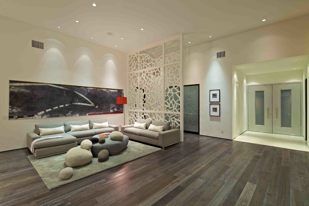 Folding Screen Room Divider Living Room Contemporary with Arc Lamp Architect Architecture Area Rug Beautiful