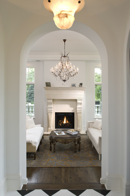 Foyer Chandeliers Living Room Mediterranean with Arched Doorway Carved Stone Ceiling Light Chandelier Checkerboard Coffee