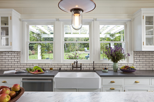 Franke Faucets Kitchen Transitional with Architectural Details Architectural Elements Eclectic Kitchen Eclectic Lighting Traditional