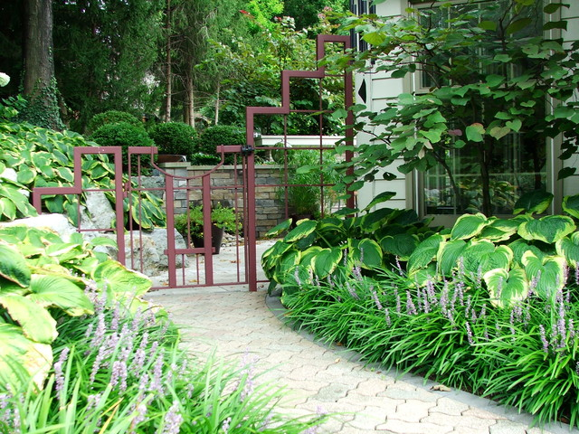 Freestanding Pet Gate Landscape Eclectic with Angled Approach Funky Gate Gate Hardscape Hosta Iron Landscape