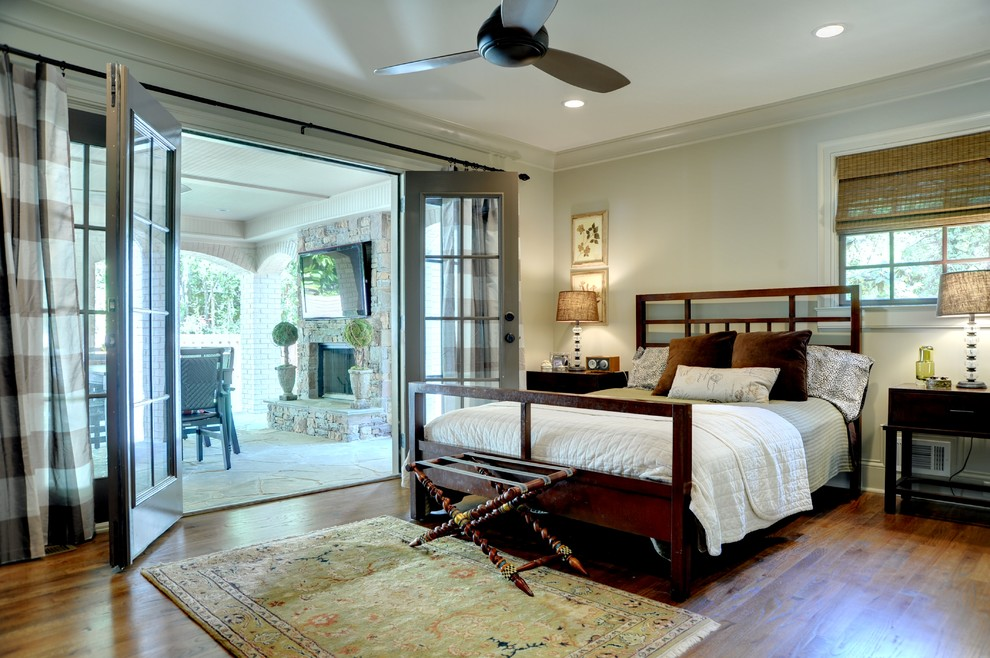 French Provincial Bedroom Furniture Bedroom Traditional with Bamboo Roman Shade Ceiling Fan Crown Molding