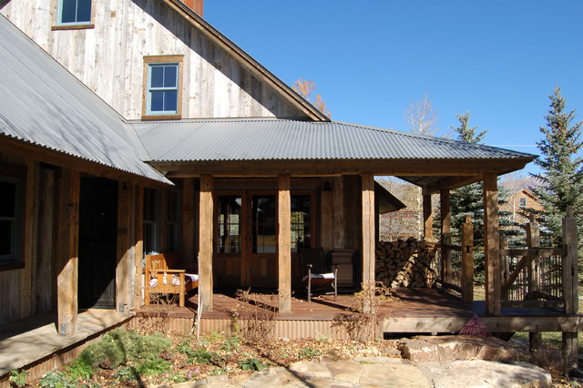 Galvanized Roofing Porch Rustic With Breezeway Corrugated Metal Roof Deck Dog Trot Dogtrot Glass on Rustic House Plans With Wrap Around Porches