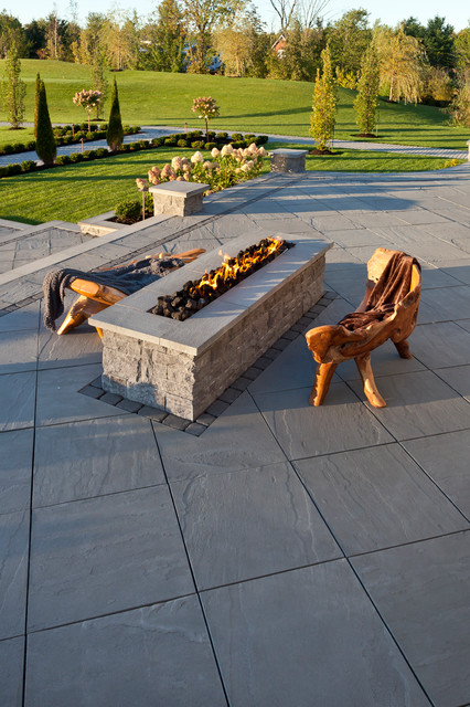 Gas Fire Pit Kit Patio Traditional with Backyard Chateau Fire Pit Firepit Grass Landscape Design Landscaping