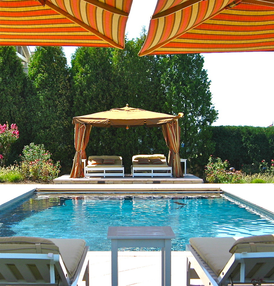 Gazebo Canopy Pool Eclectic with Cabana Chaise Longue Chaise Lounge Design Furniture