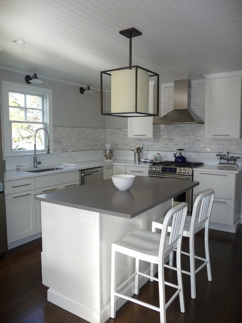 Ge Cafe Series Kitchen Beach with Backsplash Beach Beadboard Cabinets Ceaserstone Ceiling Frame and Panel