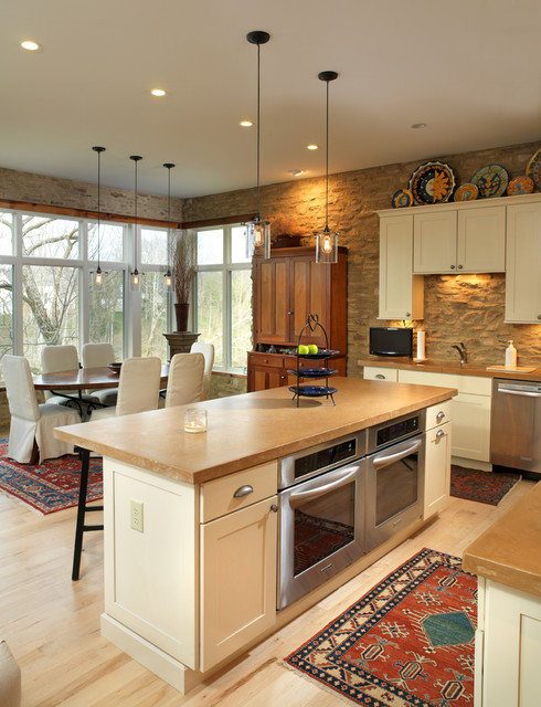 Ge Double Oven Gas Range Kitchen Rustic with Double Oven Eat in Kitchen Glass Pendant Hutch Maple
