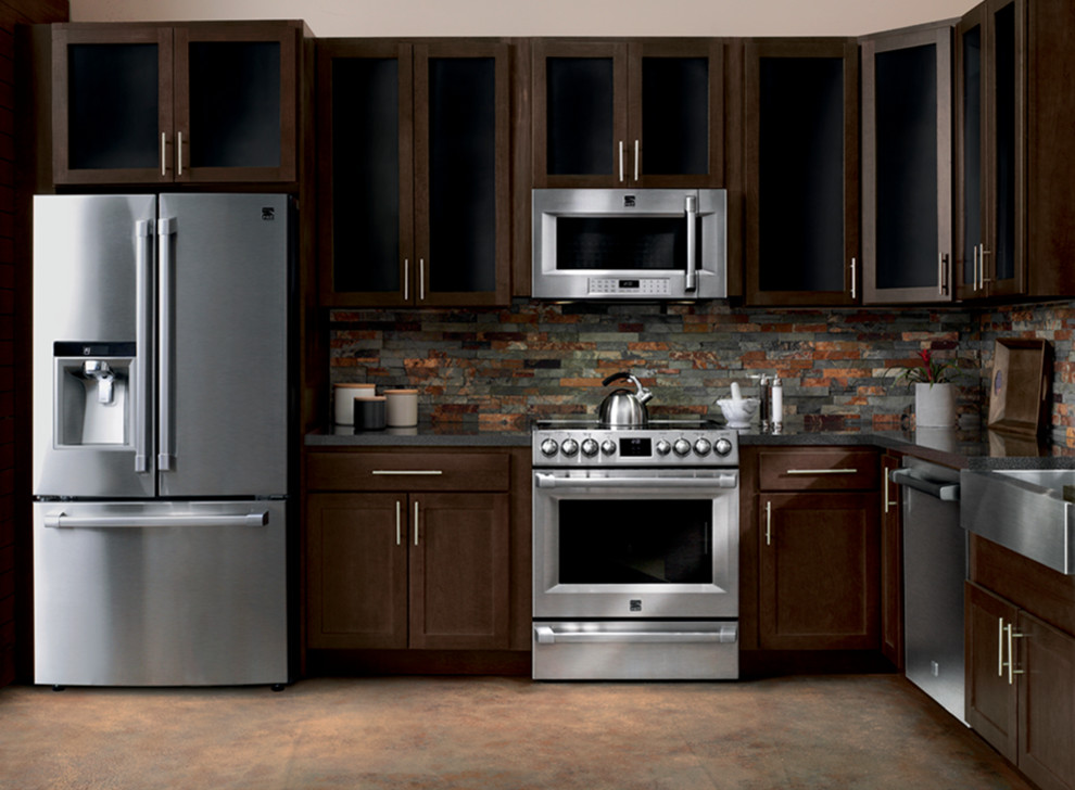 Ge Slate Appliances Kitchen Contemporary With