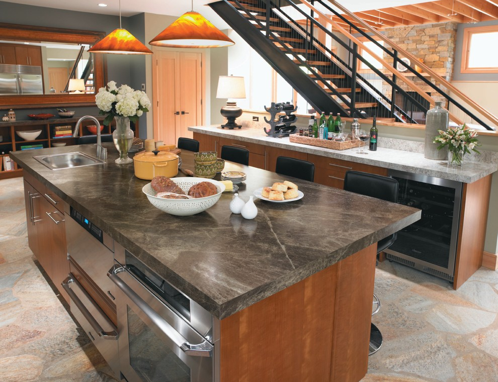 Ge Slate Appliances Kitchen Contemporary with Bar Accessories Breakfast Bar Eat in Kitchen