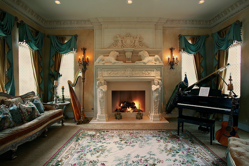 Gel Fireplace Insert Living Room Traditional with Cast Stone Fireplace Cast Stone Mantel Classical