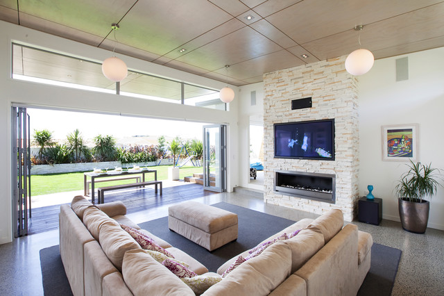Gel Fuel Fireplace Living Room Modern with Accent Ceiling Area Rug Ceiling Lighting Ceiling Treatment Corner
