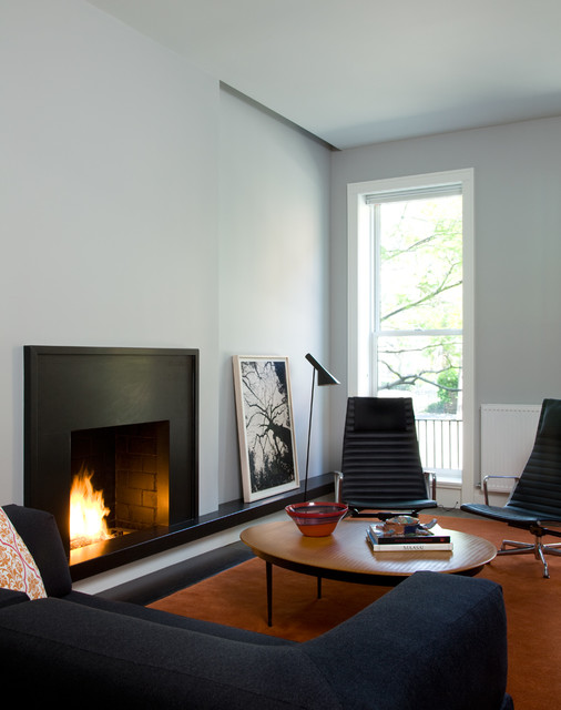 Gel Fuel Fireplace Living Room Modern with Artwork Fireplace Fireplace Ledge Gray Sofa Herman Miller Chair