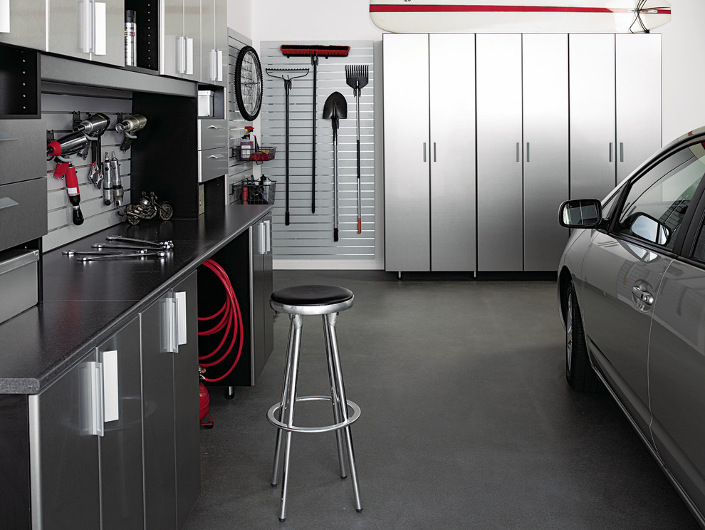 Gladiator Cabinets Garage and Shed Contemporary with Aluminum Bins Cabinets Car Storage Cars Counter