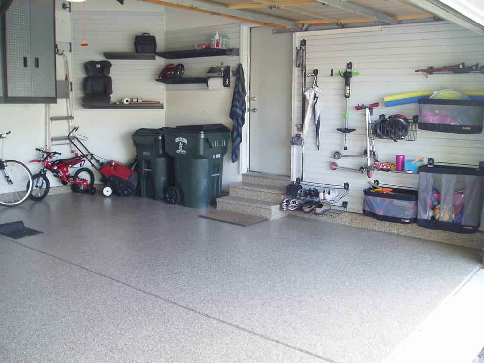 Gladiator Cabinets Garage and Shed Traditional with Ball Storage Before and After Bike Storage1
