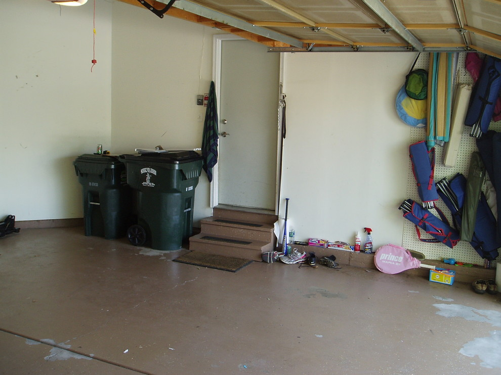 Gladiator Cabinets Garage and Shed Traditional with Ball Storage Before and After Bike Storage2