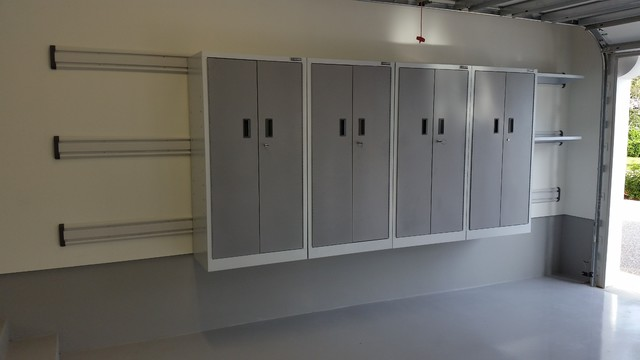 Gladiator Geartrack Garage and Shed Contemporary with Florida Garage Storage Garage Cabinets Garage Storage Gladiator Cabinets2