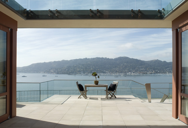 Glass Deck Railing Deck Rustic with Bay Deck Entry Exterior Doors Framed View Glass Glass1