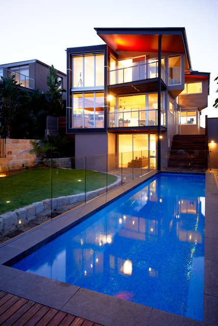 Glass Deck Railing Pool Contemporary with Floor to Ceiling Windows Glass Deck Railing Glass Railing Grass Hardwood1