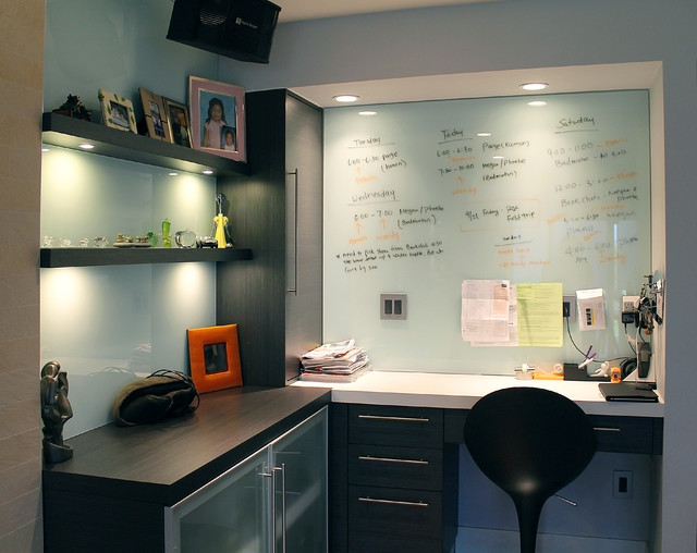 Attractive Glass Dry Erase Board Home Office Modern With Bathroom Lighting Living Room  Living Space Modern Office