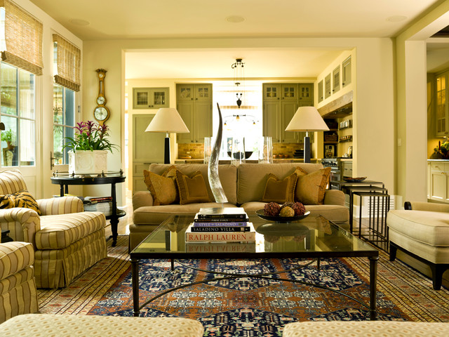Glass Nesting Tables Living Room Traditional with Area Rug Armchairs Class Coffee Table Decorative Pillows Ottoman
