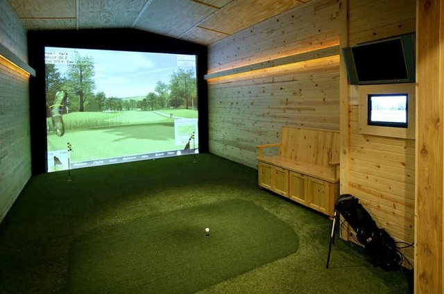 Golf Simulator Reviews Home Gym Eclectic with Categoryhome Gymstyleeclecticlocationminneapolis