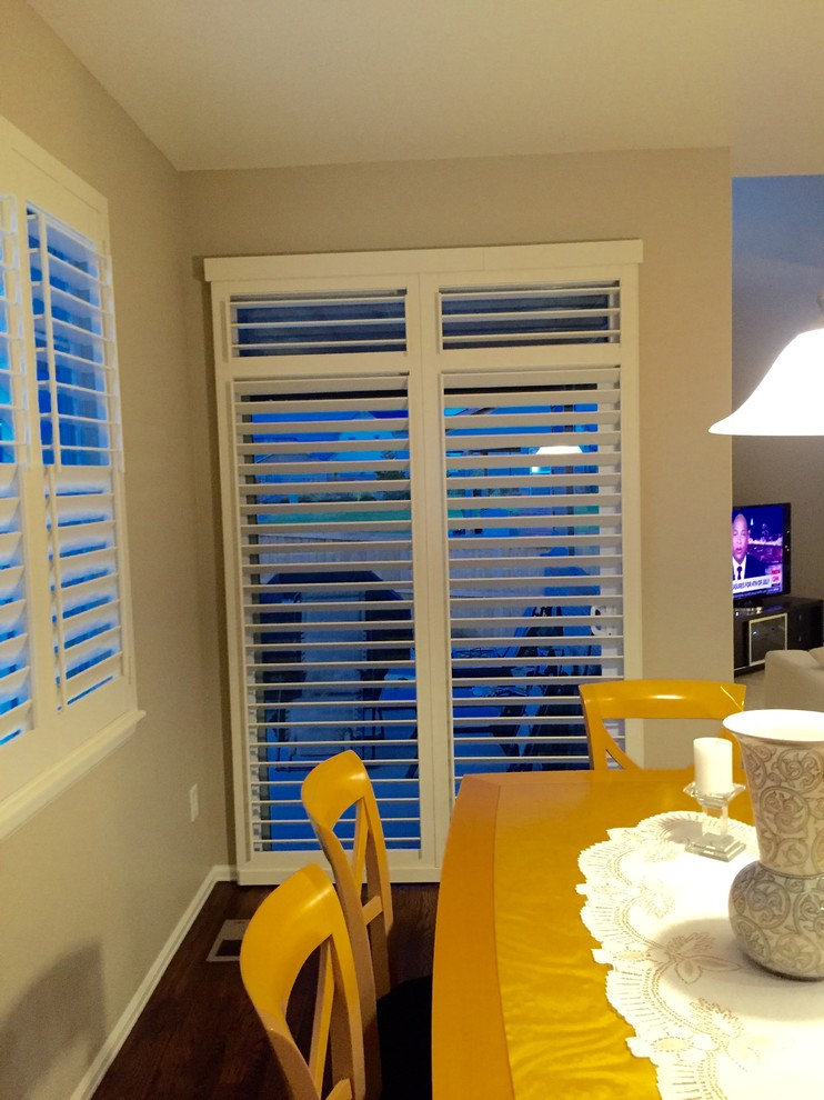 Graber Shutters Dining Room Traditional with Aluminum Shutters Blinds Castle Rock Colorado Plantation1