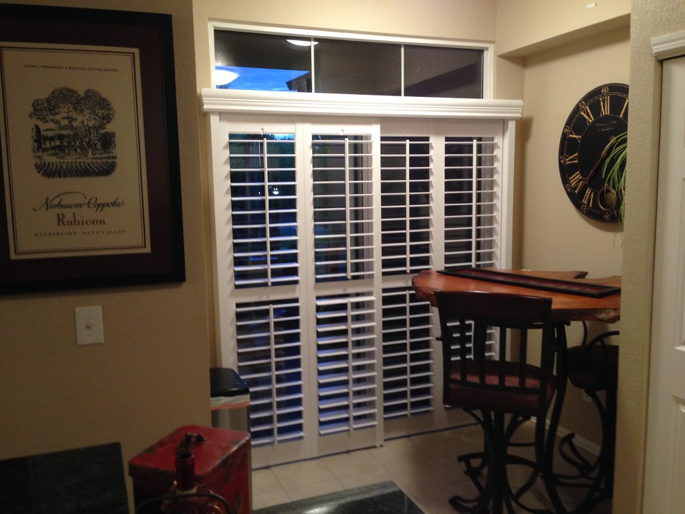 Graber Shutters Living Room Traditional with Aluminum Shutters Blinds Castle Rock Colorado Plantation
