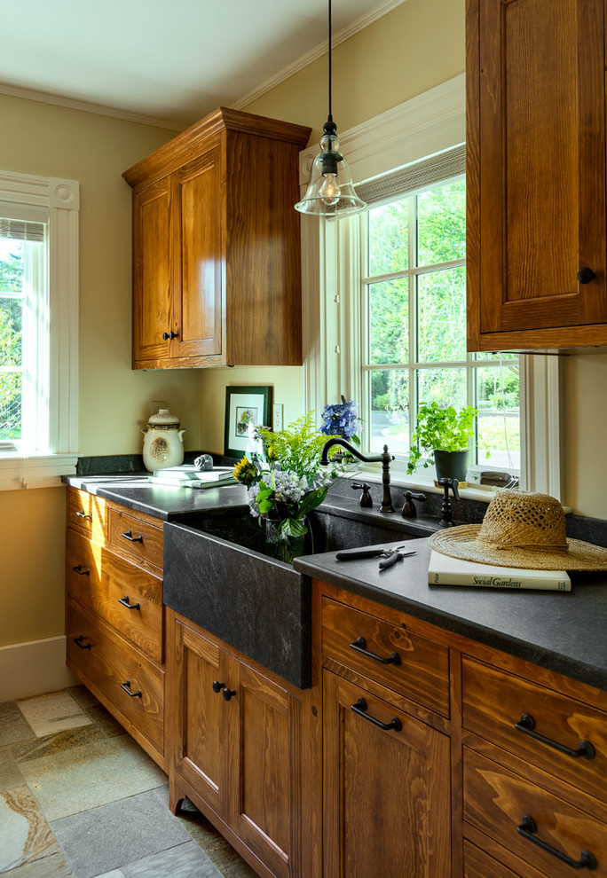 Granite Composite Sinks Garage and Shed Beach with Apron Sink Black Counter Black Countertop Black
