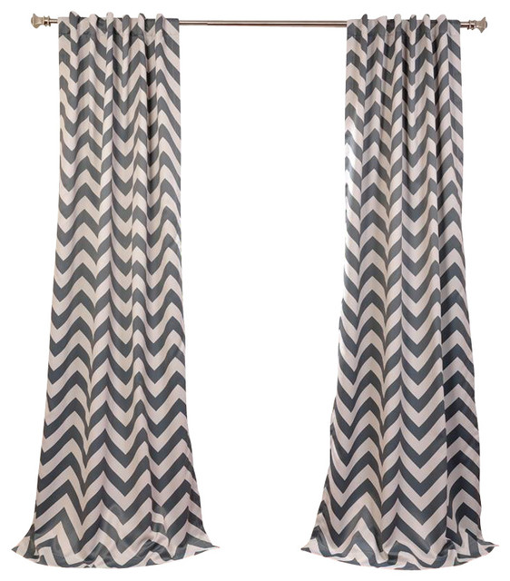 Grey Blackout Curtainswith 6