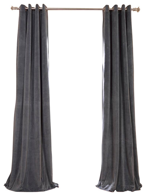 Grey Blackout Curtainswith 7