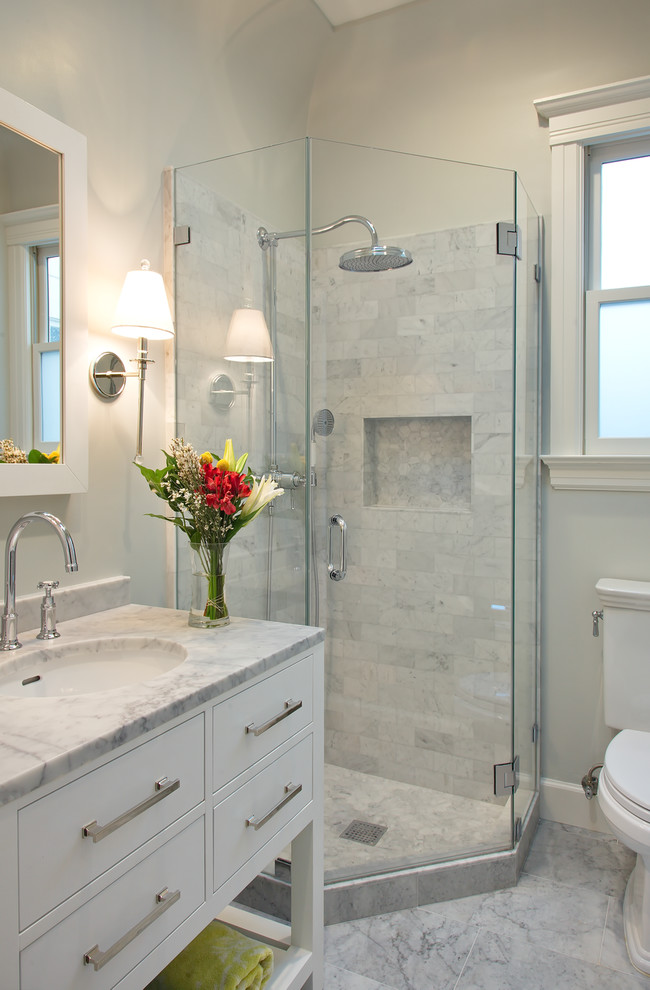 grohe shower system Bathroom Transitional with bar pulls bridge faucet glass shower door