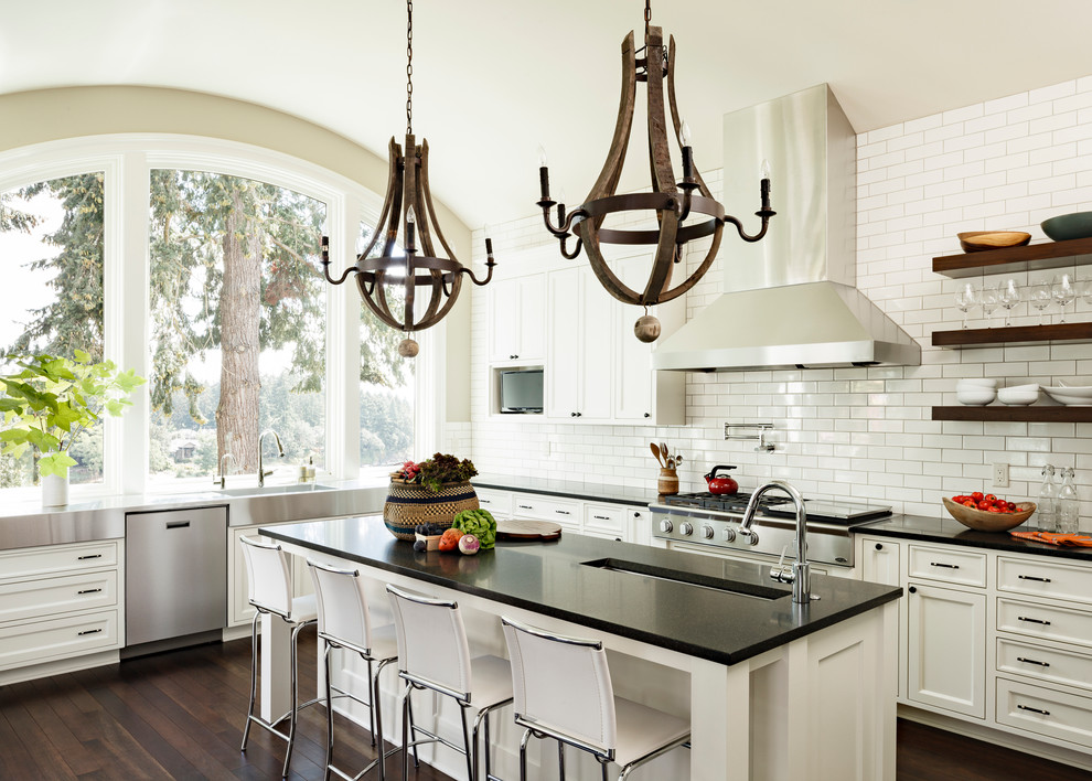 Grout Sealer Kitchen Contemporary with Arched Window Barrel Ceiling Beige Wall Black
