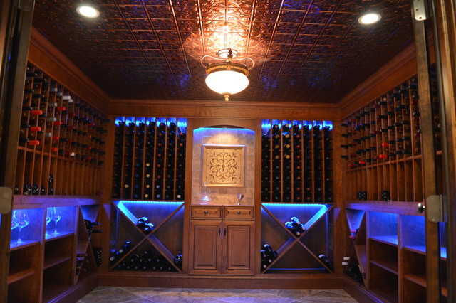 guardian generators Wine Cellar Traditional with 57 F temperature 60 humidity arched glass door beveled