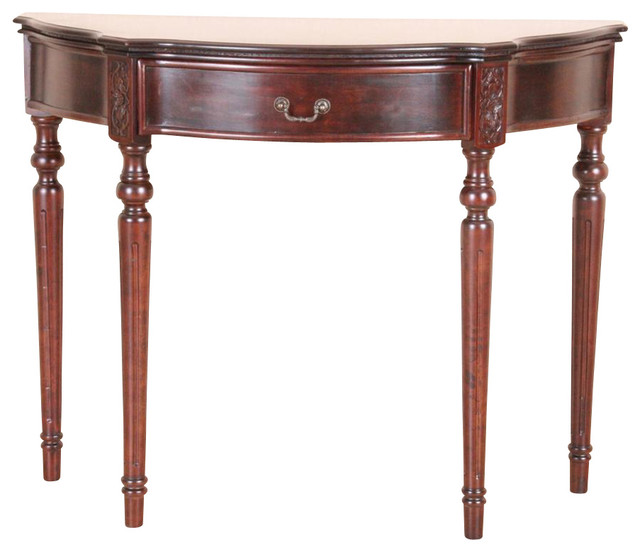 Half Moon Console Tablewith 15