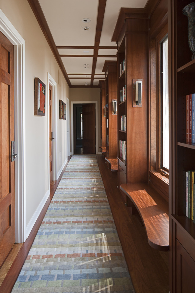 Hallway Runners Hall Eclectic with Accent Trim Artisan Hardware Cabinet Sconce Carpet1