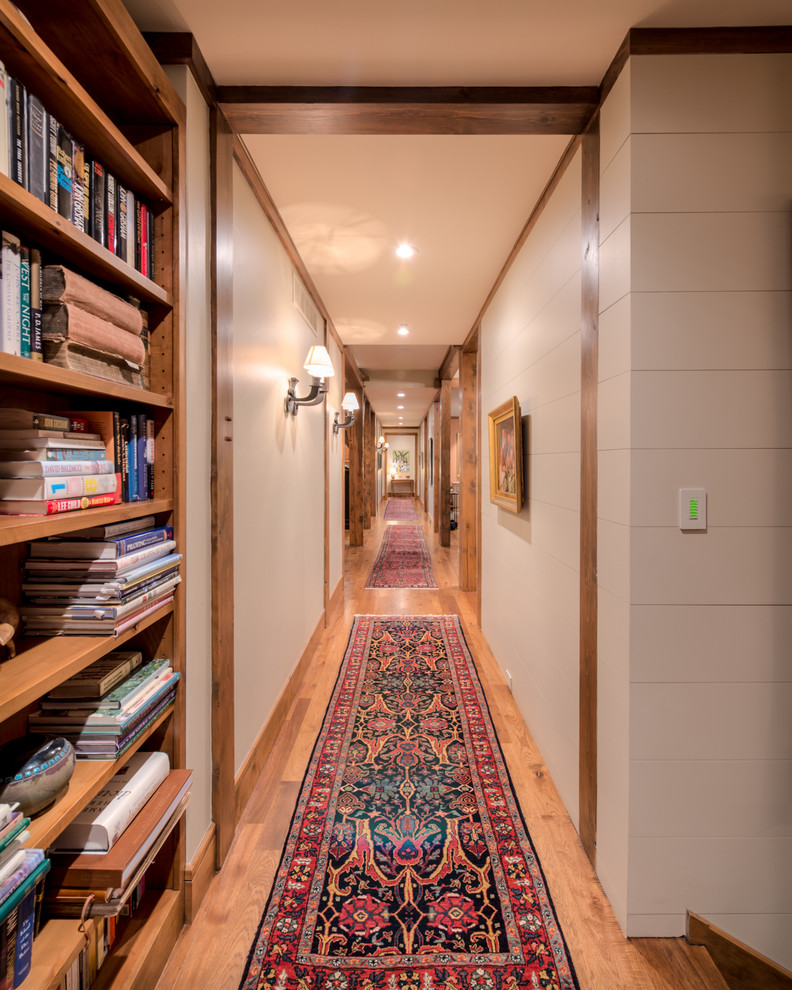 Hallway Runners Hall Rustic with Built in Bookcase Built in Bookshelves Carpet1