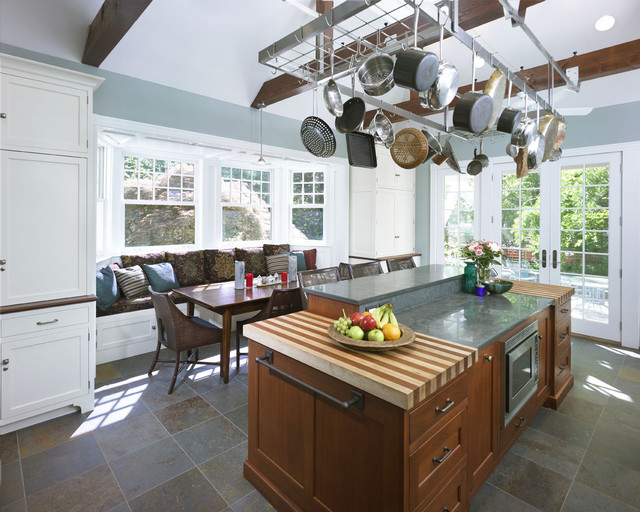 hampton-bay-kitchen-cabinets-Kitchen-Transitional-with-banquette ...