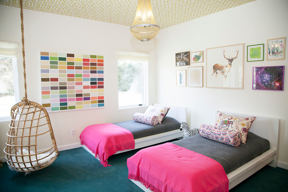 hanging-chairs-for-bedrooms-Kids-Eclectic-with-bolster-carpeting ...
