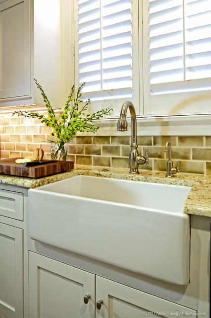 hansgrohe kitchen faucet Kitchen Traditional with apron sink butcher block cutting board farmhouse sink floral