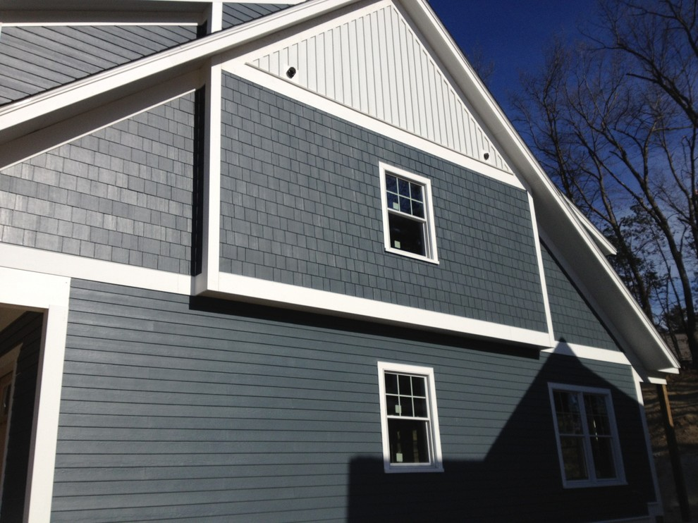 Hardie Shingles Exterior Traditional with Board and Batten Clapboard Fiber Cement James