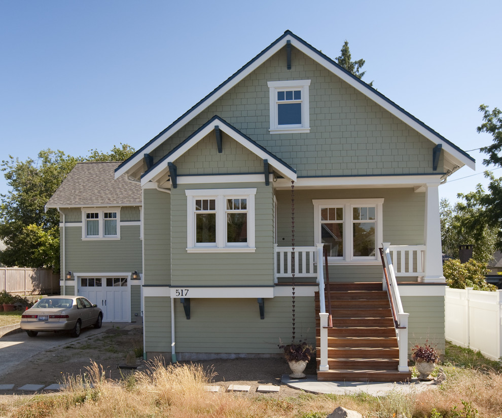Hardiplank Exterior Craftsman with Bungalow Craftsman Style Downspout Eaves Entrance Entry