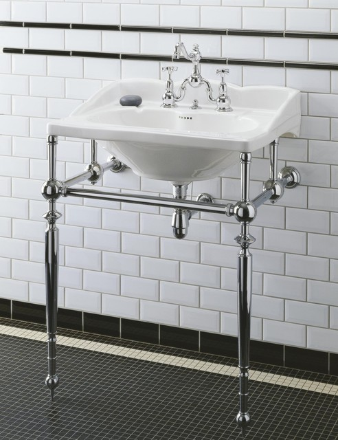 Herbeau Bathroom Traditional With Antique Bathroom Faucets Bathroom Sinks  Console Sink Edwardian Faucet