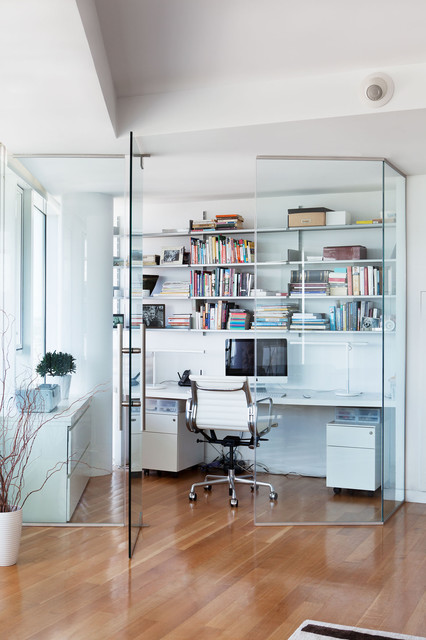 herman miller aeron chair Home Office Contemporary with desk eames chairs glass office herman miller home office