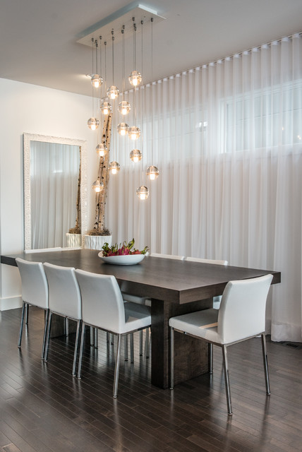Home Depot Window Coverings Dining Room Contemporary with Chandeliers Cluster Pendant Lights Dark Wood Dining Table Dark