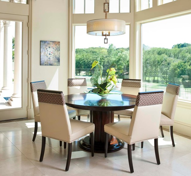 Homes for Sale in Rogers Ar Dining Room Mediterranean with Artwork Bay Window Columns Drum Shade Pedestal Table Pendant