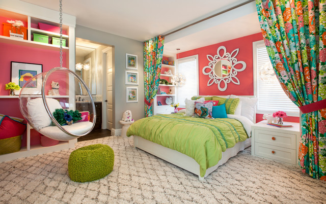 Homes for Sale in Rogers Ar Kids Transitional with Bed Bedding Bubble Chair Built in Shelves en Suite