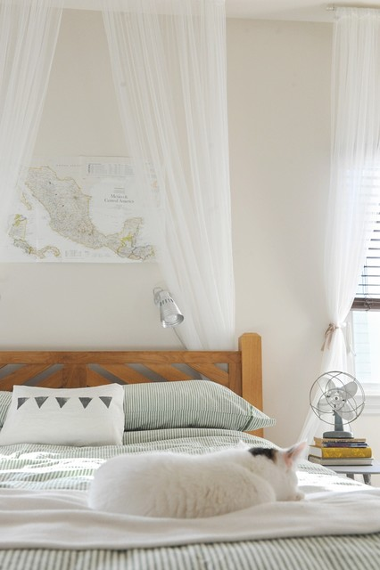 Honeywell True Hepa Air Purifier Bedroom Eclectic with Bed Canopy Electric Fan Map Rustic Striped Bedding Wall