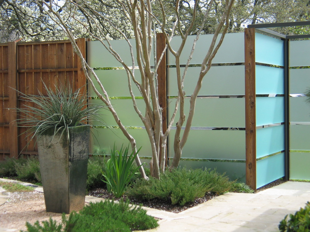 Horizontal Fence Panels Landscape Contemporary with Container Plants Entrance Entry Modern Fence Partition