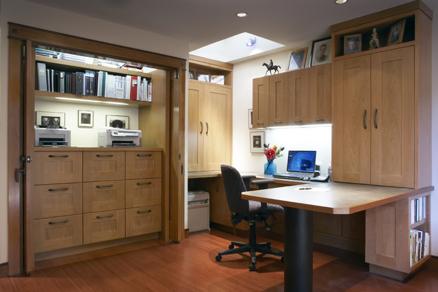Horizontal File Cabinet Home Office Contemporary with Built in Desk Built in Storage Ceiling Lighting Closet