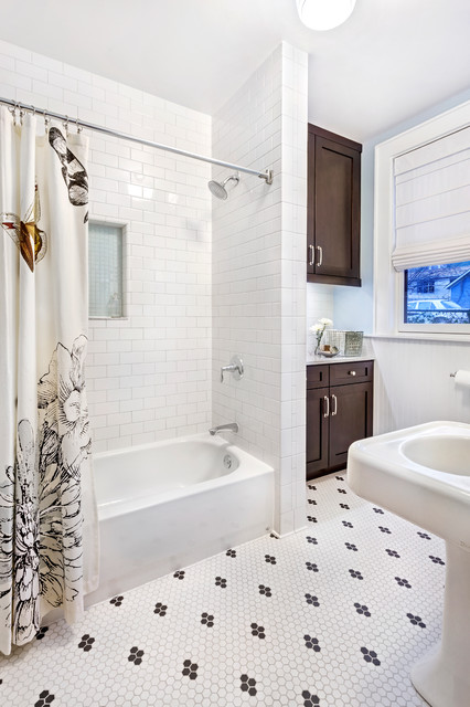 How To Clean Grout On Tile Floors Bathroom Transitional With